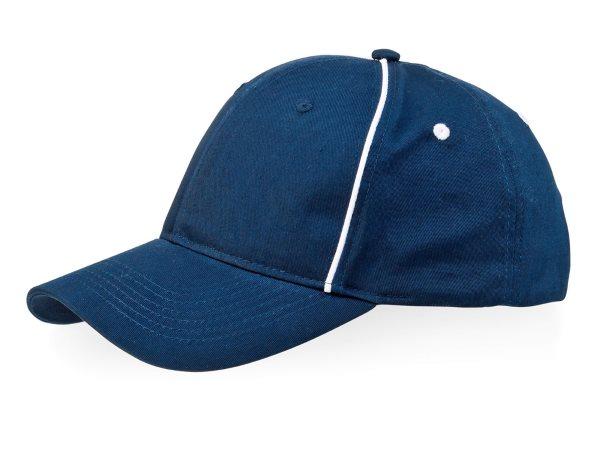 Летняя бейсболка темно-синяя с кантом